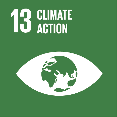 Icon and Link to the United Nations sustainable development goal page for Climate Action