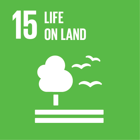 Icon and Link to the United Nations sustainable development goal page for Life on Land